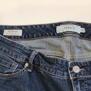 torrid Shorts - Torrid Boyfriend Distressed Bermuda Shorts